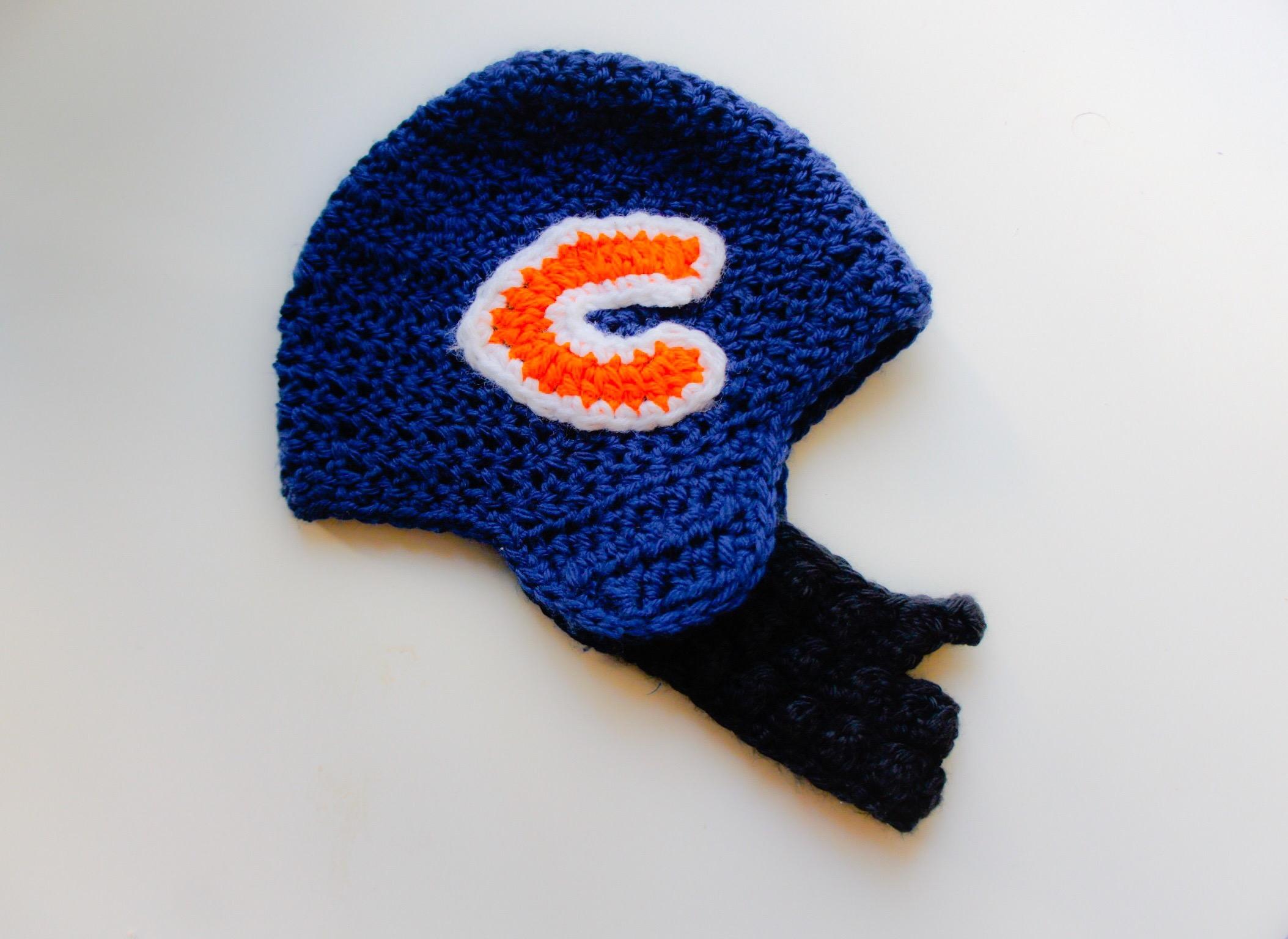 Free Crochet Pattern For Chicago Bears C : Crochet Football Bearded Helmet ? Chicago Bears ? Mama ...