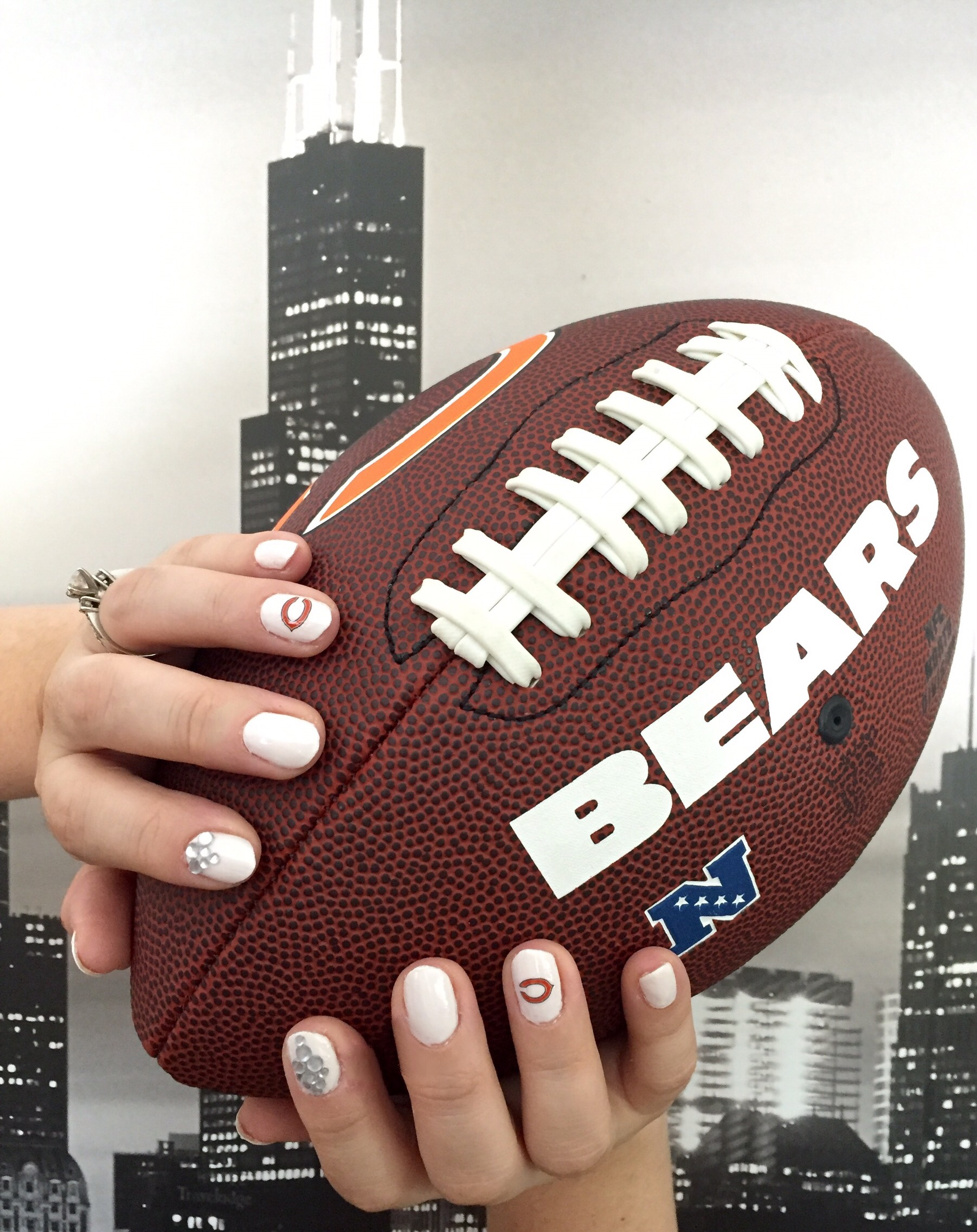 Chicago Bears Nails – Mama Bear Mimi